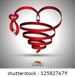 heart ribbon twist for love... | Shutterstock .eps vector #125827679