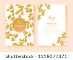 flower invitation bsckground | Shutterstock .eps vector #1258277371