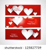 beautiful valentine's day red... | Shutterstock .eps vector #125827739