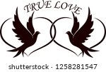 doves with hearts and the text... | Shutterstock .eps vector #1258281547
