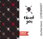 greeting card with rock style... | Shutterstock .eps vector #1258284007