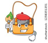 artist messenger bag on a... | Shutterstock .eps vector #1258351351