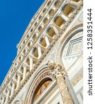 day view of pisa cathedral with ... | Shutterstock . vector #1258351444