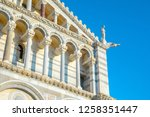 day view of pisa cathedral with ... | Shutterstock . vector #1258351447