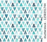 watercolor geometric seamless... | Shutterstock . vector #1258351744