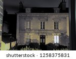 gloomy and darkness house by... | Shutterstock . vector #1258375831