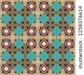 vector traditional ethnic... | Shutterstock .eps vector #1258376614