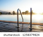 stair way swimming pool.  | Shutterstock . vector #1258379824