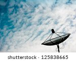 telecoms on the beautiful clouds   Shutterstock . vector #125838665