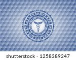caduceus medical icon inside... | Shutterstock .eps vector #1258389247