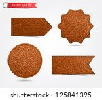 set of leather tag labels....   Shutterstock .eps vector #125841395