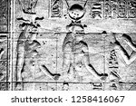 realistic egyptian hieroglyphs...   Shutterstock .eps vector #1258416067