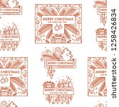 merry christmas winter holiday... | Shutterstock .eps vector #1258426834