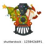 christmas holiday preparation... | Shutterstock .eps vector #1258426891