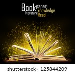 book. opened book with special... | Shutterstock . vector #125844209