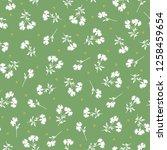 pattern of the small flower  | Shutterstock .eps vector #1258459654