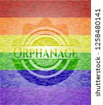 orphanage on mosaic background... | Shutterstock .eps vector #1258480141