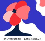 abstract floral background... | Shutterstock .eps vector #1258480624