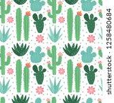 Seamless Cactus Pattern. Exoti...
