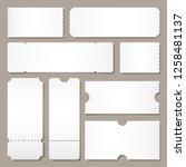 blank ticket template. festival ... | Shutterstock .eps vector #1258481137