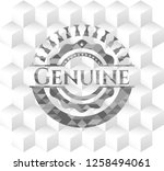 genuine grey emblem. vintage... | Shutterstock .eps vector #1258494061