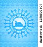 chicken dish icon inside water... | Shutterstock .eps vector #1258503604