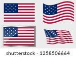 flag of the us 15 stars | Shutterstock .eps vector #1258506664