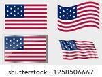 flag of the us 13 stars... | Shutterstock .eps vector #1258506667