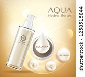 aqua hydro serum collagen and... | Shutterstock .eps vector #1258515844