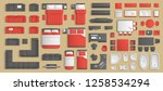 icons set of interior.... | Shutterstock .eps vector #1258534294