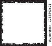 black grunge style frame on... | Shutterstock .eps vector #1258543621