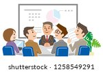 business team is discussing... | Shutterstock .eps vector #1258549291