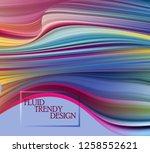 modern colorful flow poster.... | Shutterstock .eps vector #1258552621