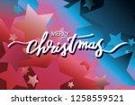 merry christmas illustration...   Shutterstock .eps vector #1258559521