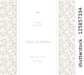 wedding card  invitation card | Shutterstock .eps vector #125857334