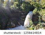 waterfall in minnesota  | Shutterstock . vector #1258614814