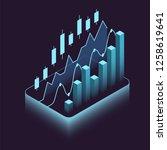 isometric financial stock...   Shutterstock .eps vector #1258619641