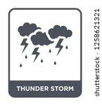 thunder storm icon vector on... | Shutterstock .eps vector #1258621321