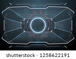 futuristic virtual screen   Shutterstock .eps vector #1258622191