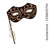 illustration of carnival mask... | Shutterstock .eps vector #1258655704