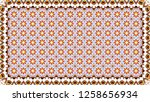 colorful horizontal pattern for ... | Shutterstock . vector #1258656934