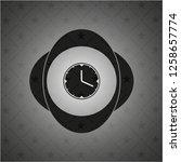 clock  time icon inside dark...   Shutterstock .eps vector #1258657774