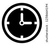 time machine  clock solid icon | Shutterstock .eps vector #1258664194