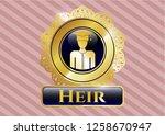 golden badge with graduated...   Shutterstock .eps vector #1258670947