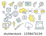 doodle set with web development ... | Shutterstock .eps vector #1258676134
