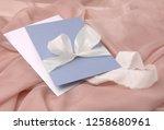 wedding invitation mockup with...   Shutterstock . vector #1258680961