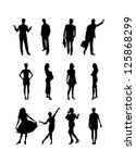 people silhouettes. vector... | Shutterstock .eps vector #125868299