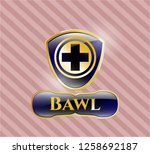 shiny badge with medicine icon ...   Shutterstock .eps vector #1258692187