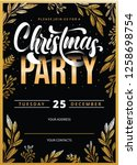 merry christmas card party flyer | Shutterstock .eps vector #1258698754