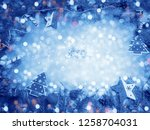 christmas decoration with... | Shutterstock . vector #1258704031